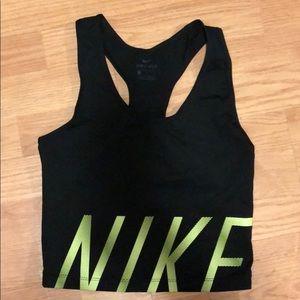 Nike dri-fit crop workout tank top small